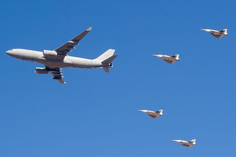 Emirates A380 with Al-Fursan