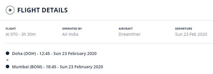 AI970, Doha to Mumbai