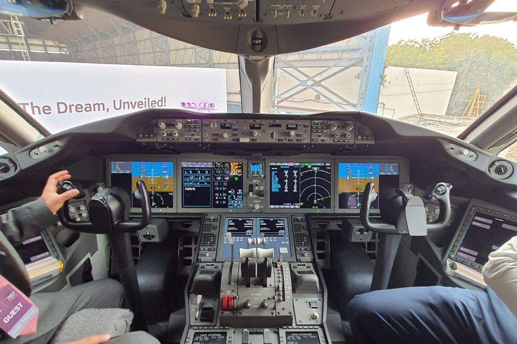 Flight Deck of Vistara Boeing 787-9 Dreamliner